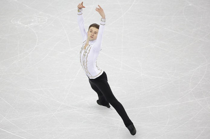 Misha Ge finishes his performance at Olympics