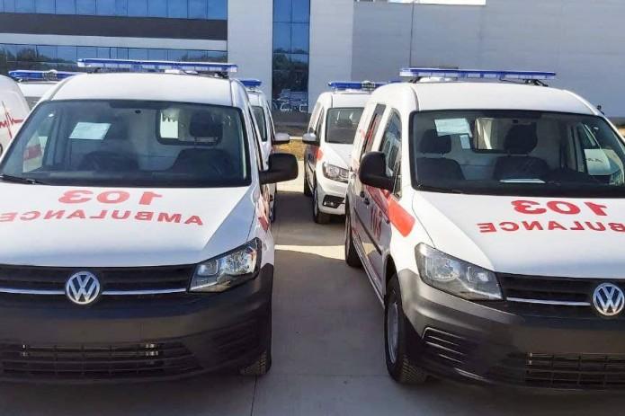 В Узбекистане началась доставка машин скорой помощи «Volkswagen Caddy Ambulance»