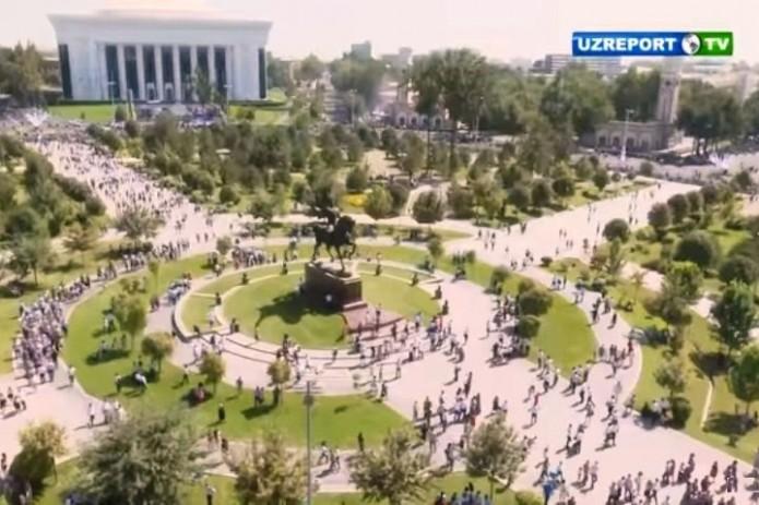 Фестиваль традиционной культуры «O'zbegim» с высоты птичьего полета