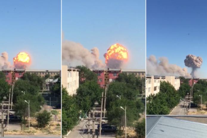 В Казахстане на военных складах произошел взрыв