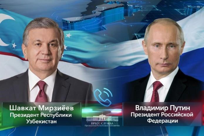 Шавкат Мирзиёев и Владимир Путин обсудили визит Президента Узбекистана в Россию