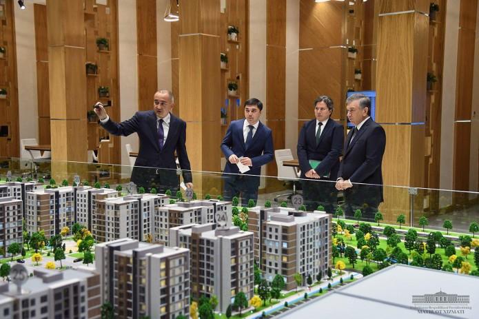 Президент ознакомился со строительством делового центра «Olmazor business city»