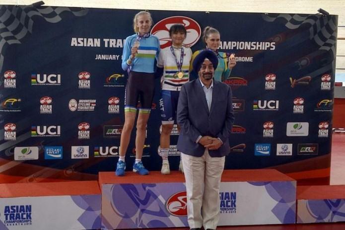 Велоспорт: Янина Кускова выиграла серебряную награду чемпионата Азии