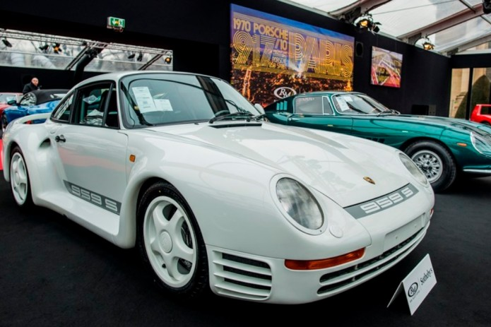 Vintage cars up for auction in Paris, including Johnny Hallyday's red Grifo