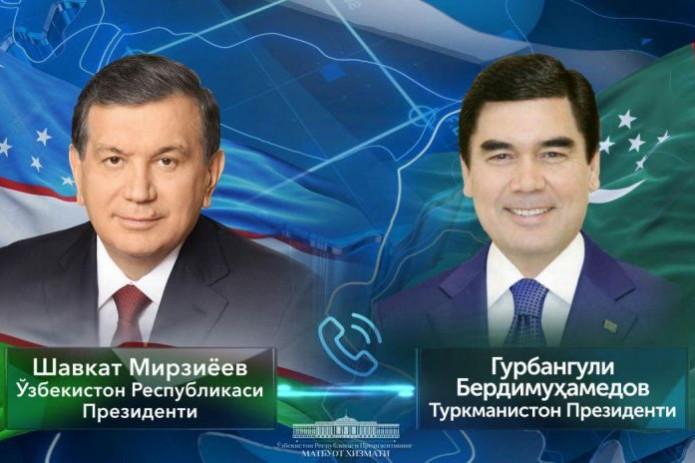 Президенты Узбекистана и Туркменистана провели телефонный разговор
