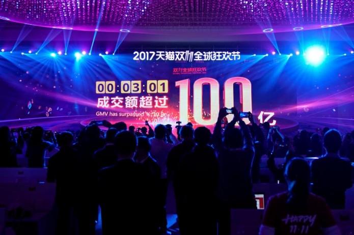 Объем продаж наплатформе Alibaba вДень холостяков превысил $25 млрд