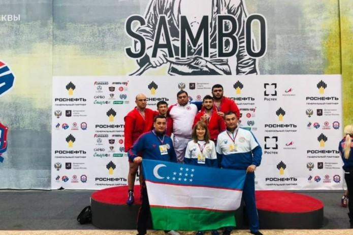 Самбисты Узбекистана завоевали четыре медали в первый день Кубка мира
