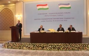 В ходе узбекско-таджикского бизнес-форума подписаны соглашения на $103,3 млн.