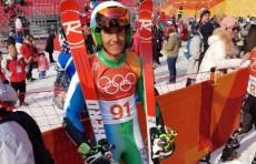 Комилжон Тухтаев принял участие в соревнованиях по гигантскому слалому