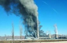В пятом энергоблоке Ново-Ангренской теплоэлектростанции вспыхнул пожар