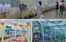 В столичном метрополитене проходит выставка изобразительного искусства