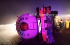 Грузовик «MAN» попал в ДТП на перевале «Камчик» (Видео)