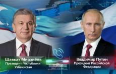 Шавкат Мирзиёев и Владимир Путин провели телефонный разговор