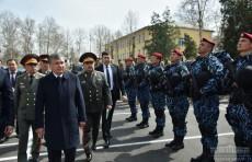Президент ознакомился с деятельностью подразделения Национальной гвардии