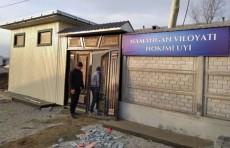 Фото дня: почти достроили временный дом для хокима Наманганской области