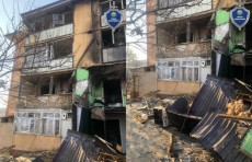 В одном из многоэтажных домов Андижана произошел взрыв газа (Видео)