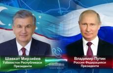Состоялся телефонный разговор президентов Узбекистана и России
