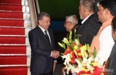 Президент Шавкат Мирзиёев прибыл в Индию