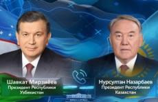Шавкат Мирзиёев и Нурсултан Назарбаев обсудили проведение консультативной встречи глав ЦА в Узбекистане