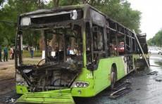 В Чиланзарском районе Ташкента загорелся автобус