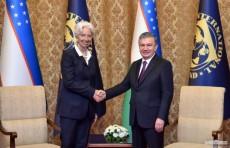 Президент Шавкат Мирзиёев принял главу МВФ Кристин Лагард