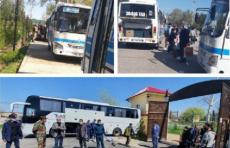 Люди, находившиеся на карантине в Самаркандской области, возвращаются в семьи