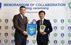 Федерация футбола Узбекистана подписала меморандум с Футбольной ассоциацией Южной Кореи