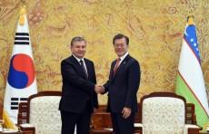 Главы Узбекистана и Южной Кореи провели переговоры в узком формате
