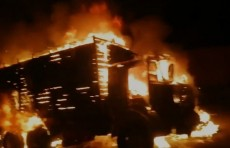 В Ахангаране в ДТП загорелись Lacetti и КамАЗ