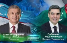 Шавкат Мирзиёев поздравил Президента Туркменистана с днем рождения