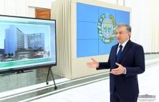 Президент ознакомился со строительными проектами