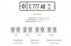 """На аукцион УзРТСБ выставлены первые автономера  """"премиум"""" класса"""