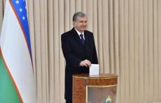 Президент Шавкат Мирзиёев проголосовал на выборах