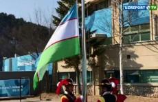 В Олимпийской деревне в Пхёнчхане поднят флаг Узбекистана