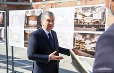 Шавкат Мирзиёев ознакомился с ходом строительства туристического центра в Самаркандском районе