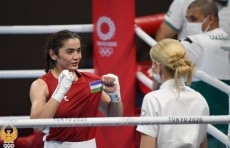 Токио-2020: Боксерша Райхона Кодирова одержала победу над Юмба Наомие из Африки
