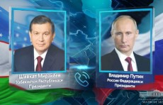 Шавкат Мирзиёев пригласил Владимира Путина посетить Узбекистан с госвизитом