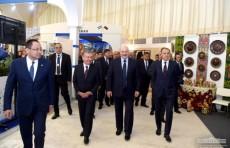Шавкат Мирзиёев и Александр Лукашенко посетили выставку продукции Узбекистана