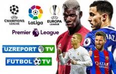 Бугун UZREPORT TV  ва FUTBOL TV телеканалларида АПЛ ва Ла Лига учрашувлари жонли эфирда намойиш этилади