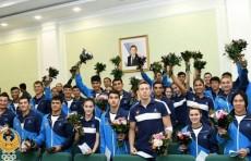 В Национальном олимпийском комитете наградили победителей и призеров Азиатских игр