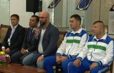Чемпиона мира по тяжёлой атлетике Руслан Нуридинов встретился со студентами