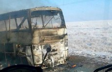 В Казахстане произошло возгорание автобуса, среди пострадавших есть граждане Узбекистана