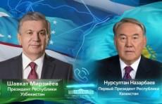 Шавкат Мирзиёев и Нурсултан Назарбаев провели телефонный разговор
